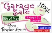 Huge Garage Sale LANSVALE + Jumping Castle for z kids